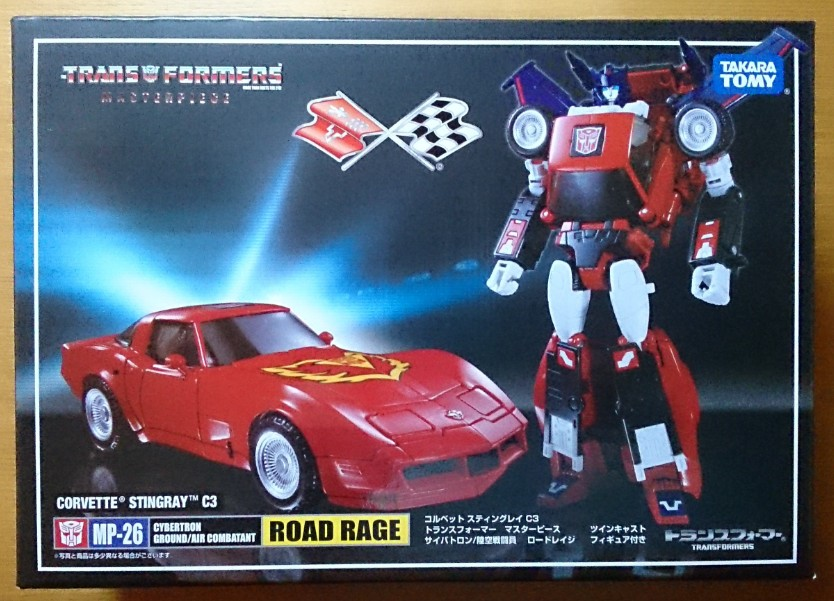 Takara Tomy Transformers Masterpiece MP-26 Road Rage RED Chevrolet G1 Figure Toy