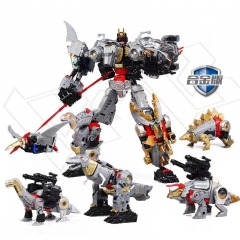 Black Mama H6002-7B Dino Force Robot Force Volcanicus Combiner Set of 5
